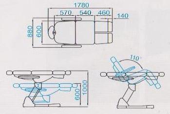 Размеры педикюрного кресла