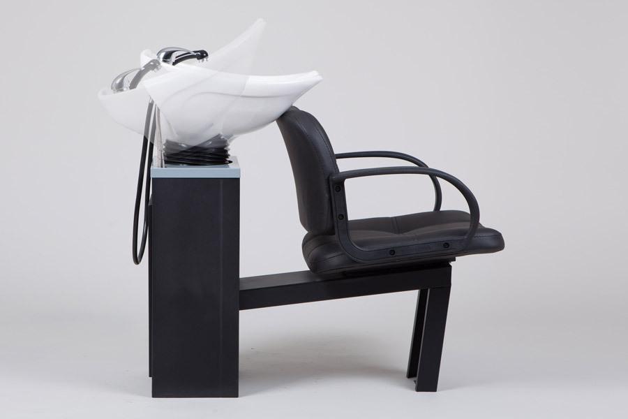 Парикмахерская мойка с креслом Nuto, каркас Сибирь для мытья головы в салон красоты