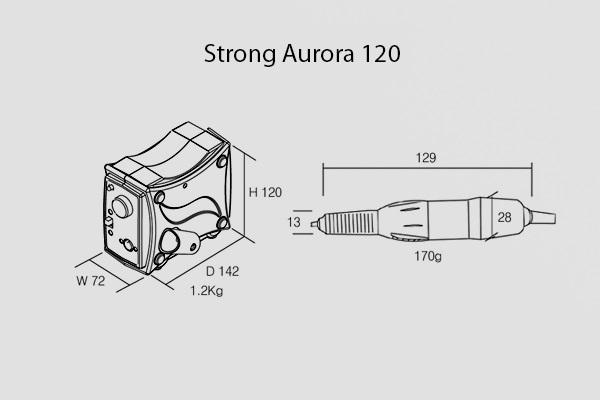 Машинка для маникюра Strong Aurora 120 (с педалью в коробке)